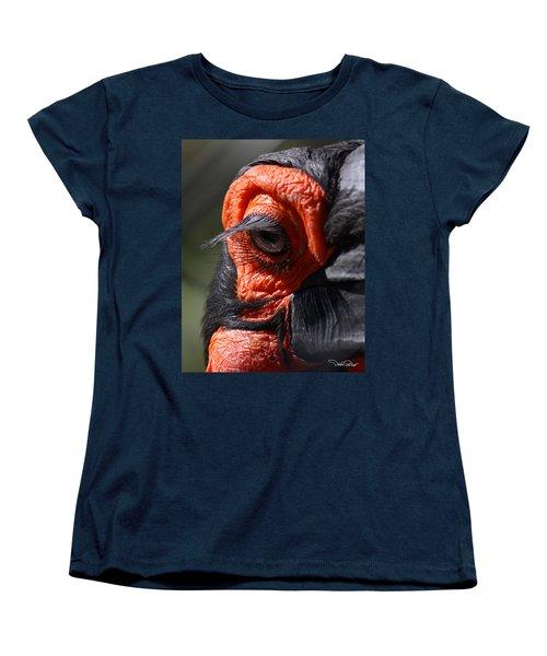 Hornbill Closeup Women's T-Shirt (Standard Cut) by David Salter