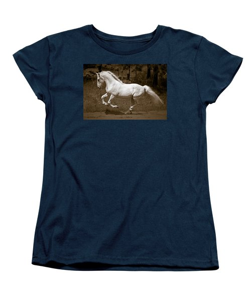Horsepower Women's T-Shirt (Standard Cut) by Wes and Dotty Weber