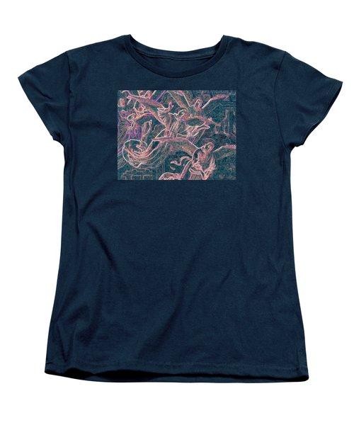 Women's T-Shirt (Standard Cut) featuring the digital art Host Of Angels Pink by First Star Art