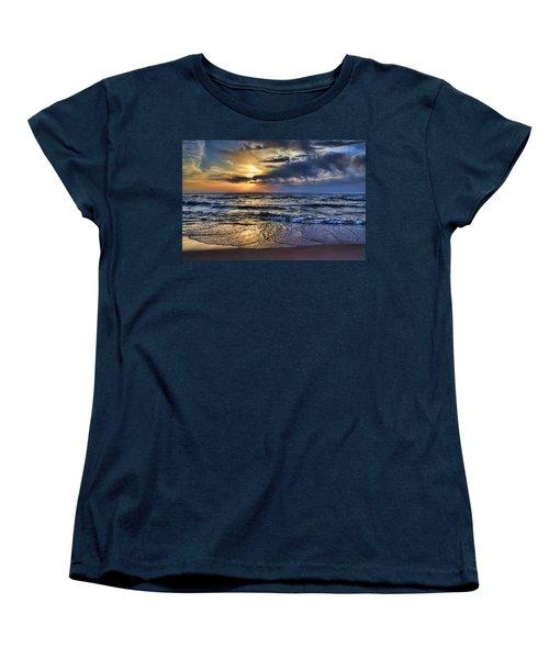 Hot April Sunset Saugatuck Michigan Women's T-Shirt (Standard Cut) by Evie Carrier