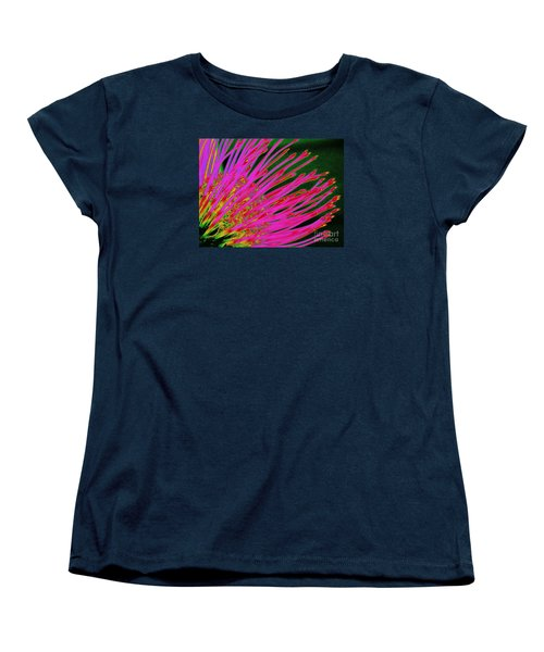 Hot Pink Protea Women's T-Shirt (Standard Cut) by Ranjini Kandasamy