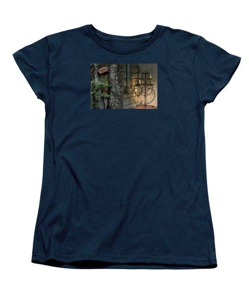 Haunted Cloister - Mea Culpa Women's T-Shirt (Standard Cut) by Yvonne Wright