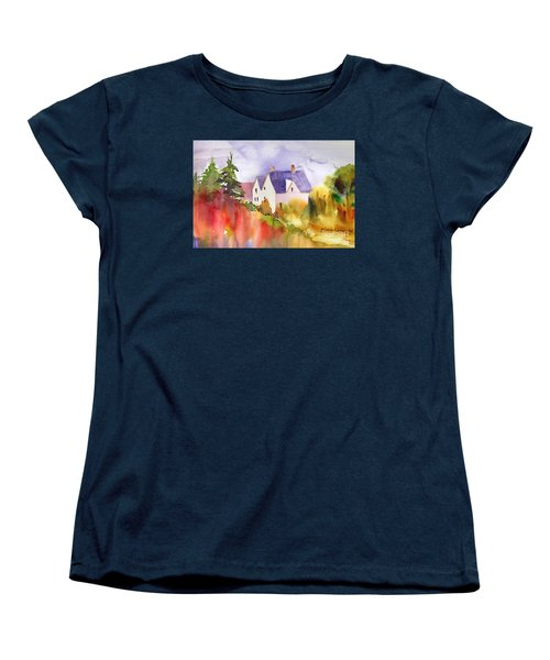 House In The Country Women's T-Shirt (Standard Cut) by Yolanda Koh