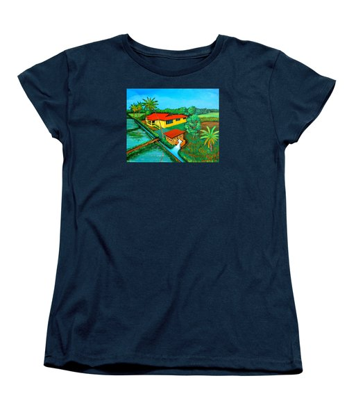 House With A Water Pump Women's T-Shirt (Standard Cut) by Cyril Maza