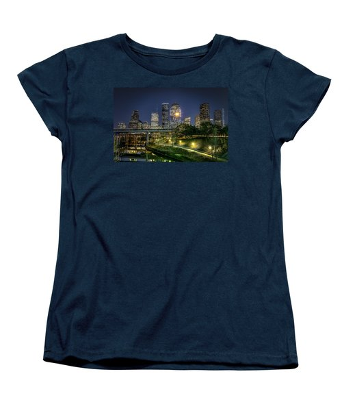Houston On The Bayou Women's T-Shirt (Standard Cut) by David Morefield