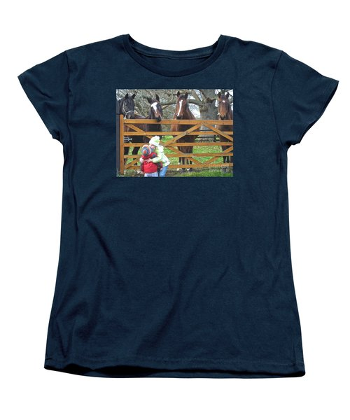 Women's T-Shirt (Standard Cut) featuring the photograph Hugs And Kisses by Suzanne Oesterling