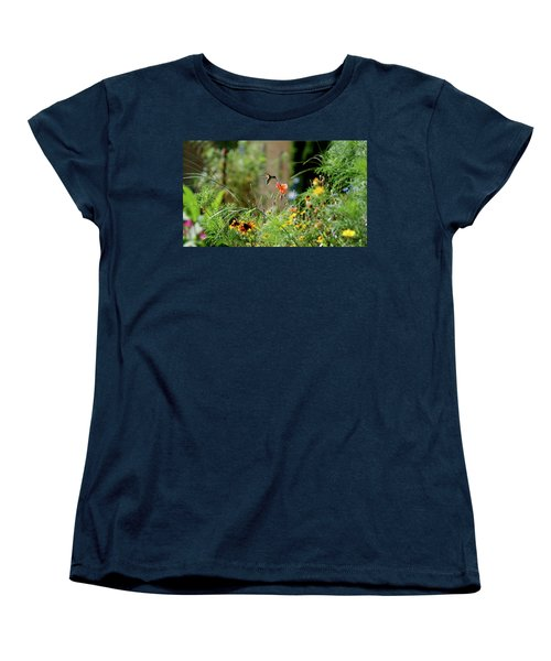 Women's T-Shirt (Standard Cut) featuring the photograph Humming Bird by Thomas Woolworth