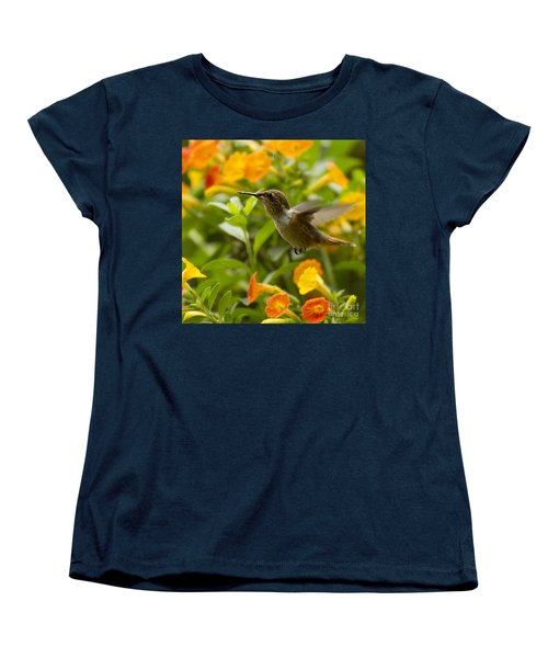 Hummingbird Looking For Food Women's T-Shirt (Standard Cut) by Heiko Koehrer-Wagner