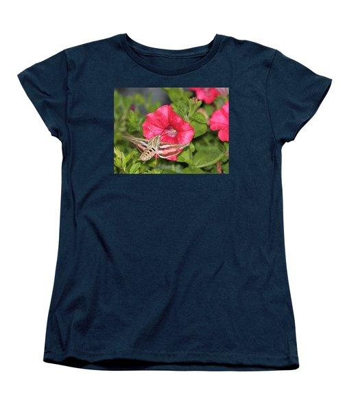 Hummingbird Moth Women's T-Shirt (Standard Cut) by Tiffany Erdman
