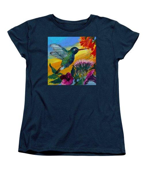 Hummingbird Women's T-Shirt (Standard Cut) by Robin Maria Pedrero