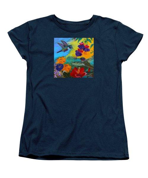 Hummingbirds Prayer Warriors Women's T-Shirt (Standard Cut) by Robin Maria Pedrero