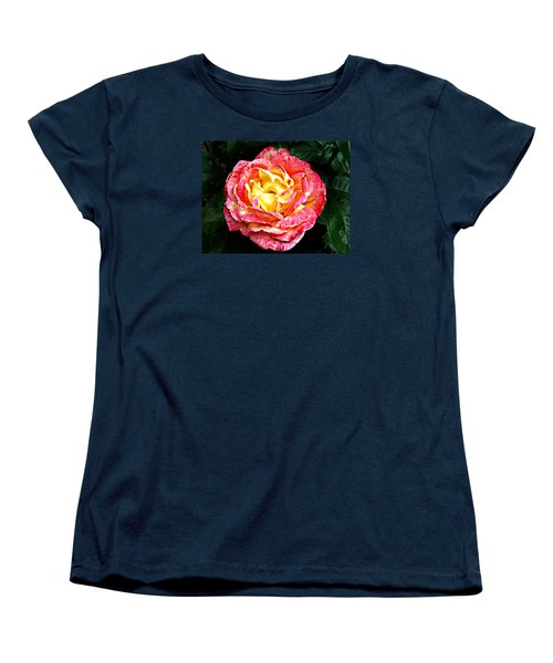 Women's T-Shirt (Standard Cut) featuring the photograph Hybrid Tea Rose ' Love And Peace ' by William Tanneberger