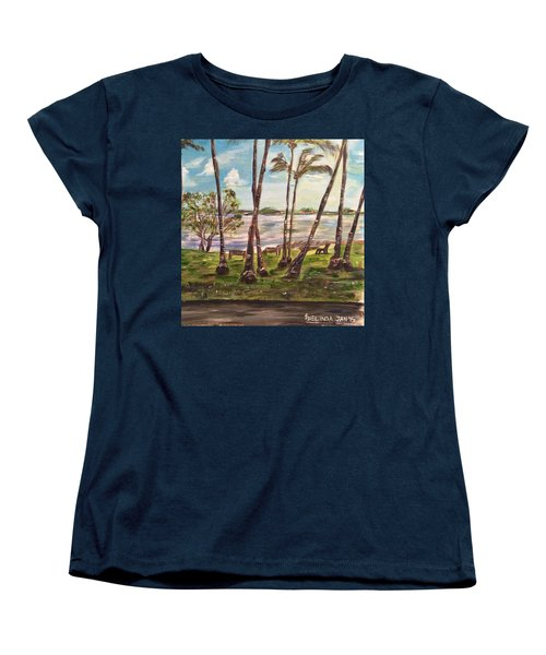 Women's T-Shirt (Standard Cut) featuring the painting I Am Always With You by Belinda Low