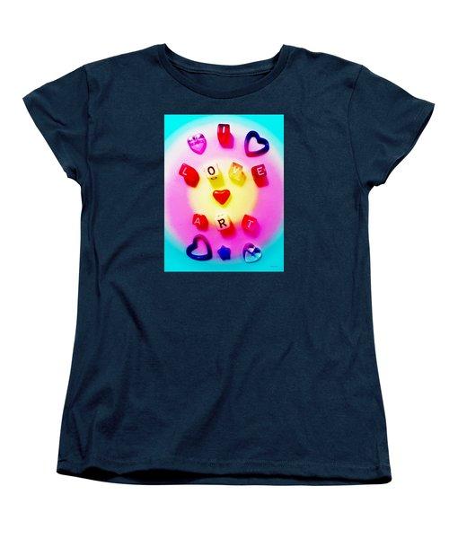 Women's T-Shirt (Standard Cut) featuring the photograph I Love Art by Shawna Rowe