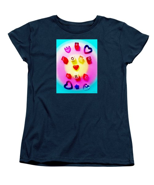 I Love Art Women's T-Shirt (Standard Cut)