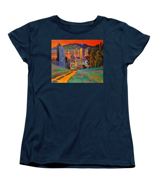 Women's T-Shirt (Standard Cut) featuring the painting I Love New York City Jazz by Art James West