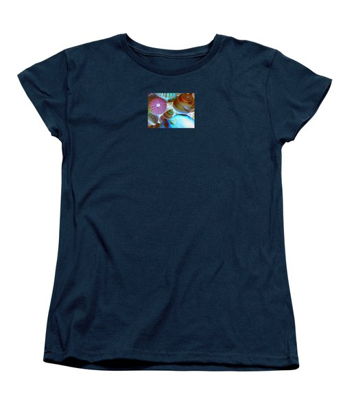 Women's T-Shirt (Standard Cut) featuring the photograph I Sell Seashells Down By The Seashore by Janice Westerberg