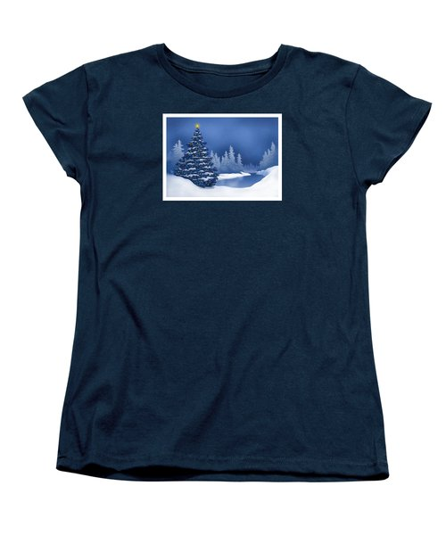 Icy Blue Women's T-Shirt (Standard Cut) by Scott Ross