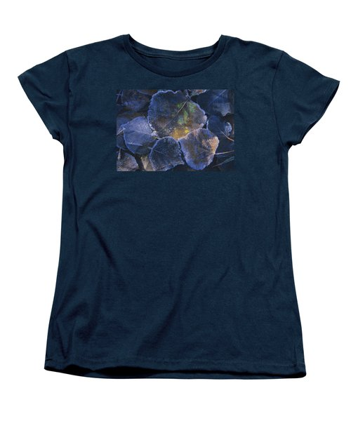 Icy Leaves Women's T-Shirt (Standard Cut) by Susan Rovira