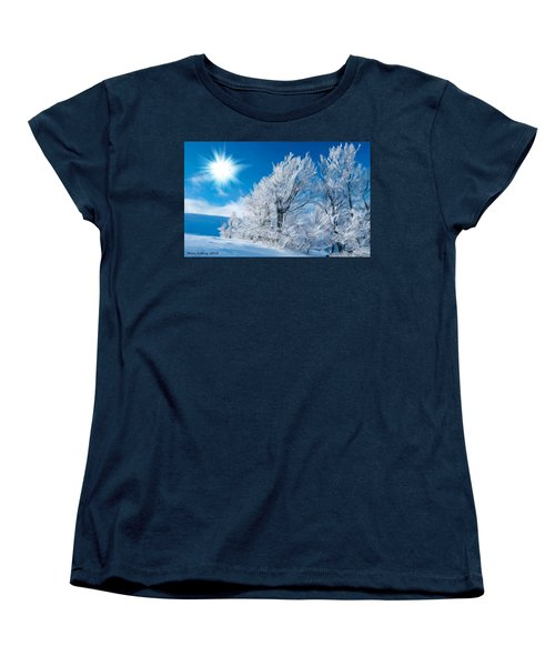 Icy Trees Women's T-Shirt (Standard Cut) by Bruce Nutting