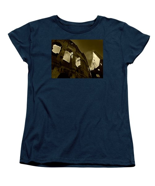 Women's T-Shirt (Standard Cut) featuring the photograph Il Colosseo by Micki Findlay