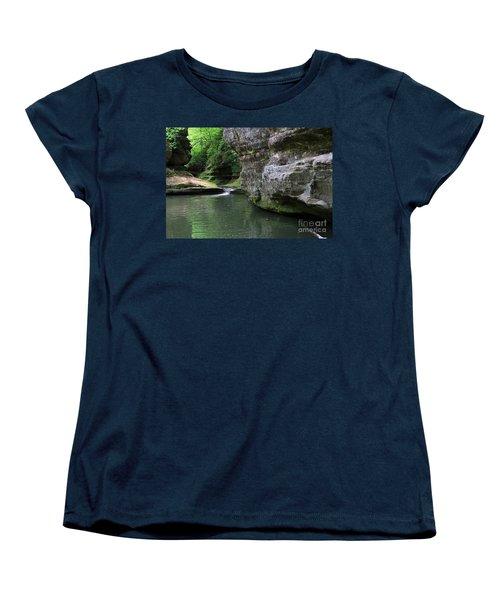 Women's T-Shirt (Standard Cut) featuring the photograph Illinois Canyon May 2014 by Paula Guttilla