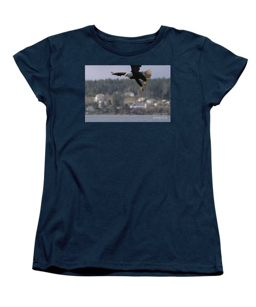 Women's T-Shirt (Standard Cut) featuring the photograph I'm Coming In For A Landing by Kym Backland