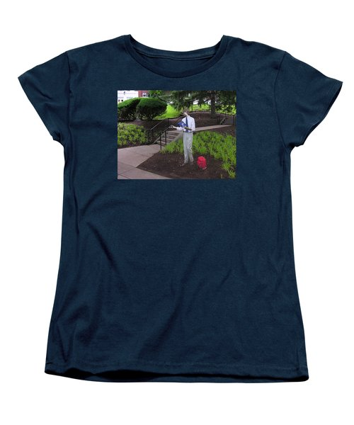 Women's T-Shirt (Standard Cut) featuring the photograph I'm Not Real by Jacqueline M Lewis