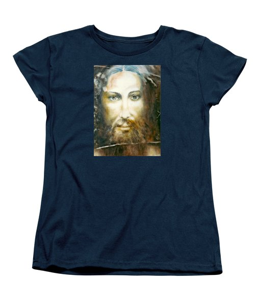 Women's T-Shirt (Standard Cut) featuring the painting Image Of Christ by Henryk Gorecki