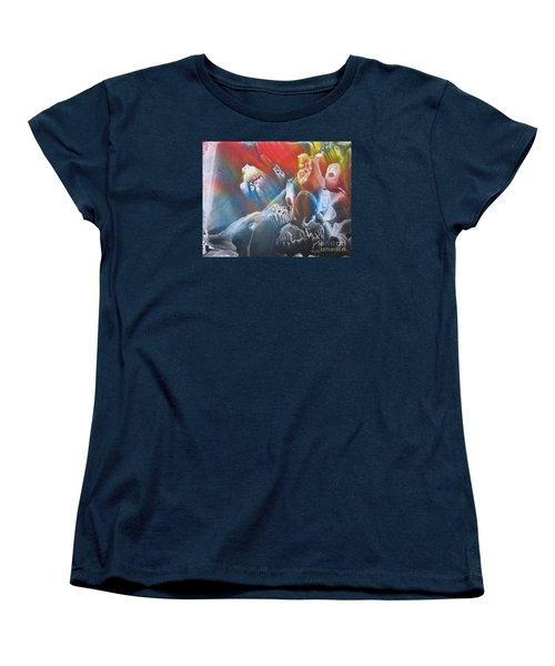 Women's T-Shirt (Standard Cut) featuring the painting Imagination 1 by Vesna Martinjak
