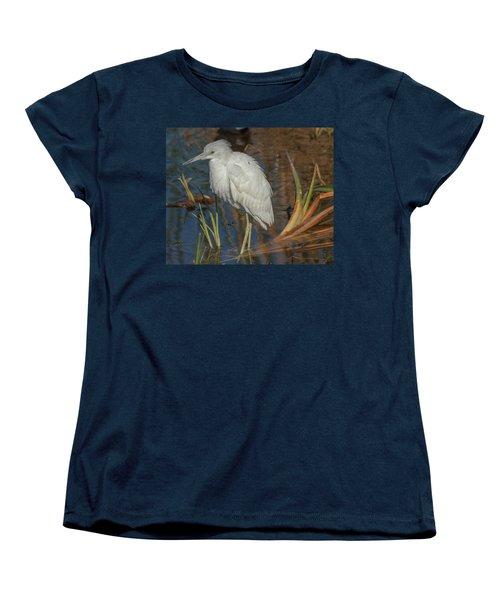 Immature Little Blue Heron Women's T-Shirt (Standard Cut) by Jane Luxton