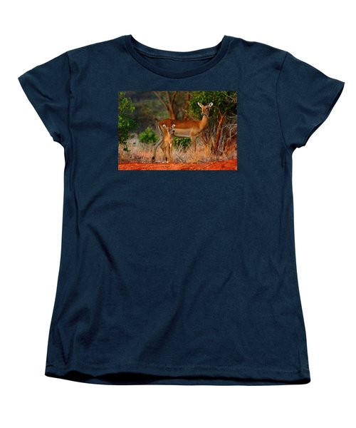 Impala And Young Women's T-Shirt (Standard Cut) by Amanda Stadther
