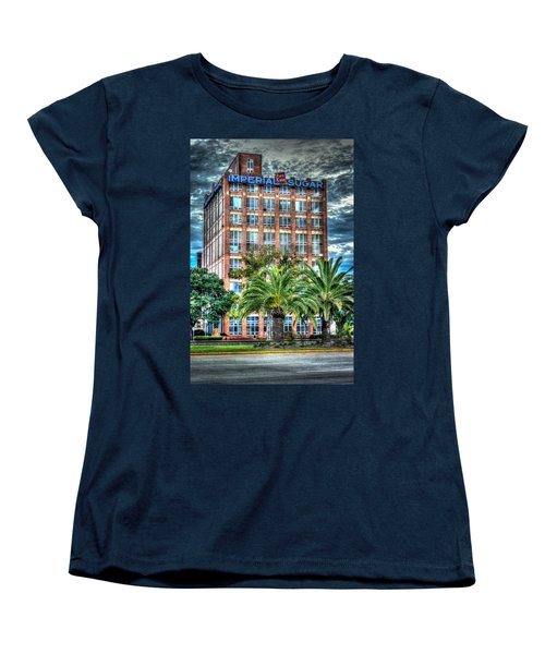 Imperial Sugar Factory Daytime Hdr Women's T-Shirt (Standard Cut) by David Morefield