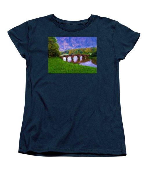 Impressions Of Stourhead Women's T-Shirt (Standard Cut) by Ron Harpham