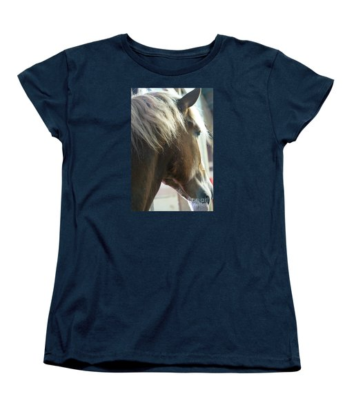 In His Farthest Wanderings Still He Sees Women's T-Shirt (Standard Cut) by Linda Shafer