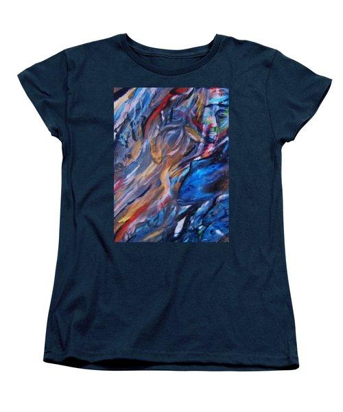 In The Blue Women's T-Shirt (Standard Cut) by Dawn Fisher