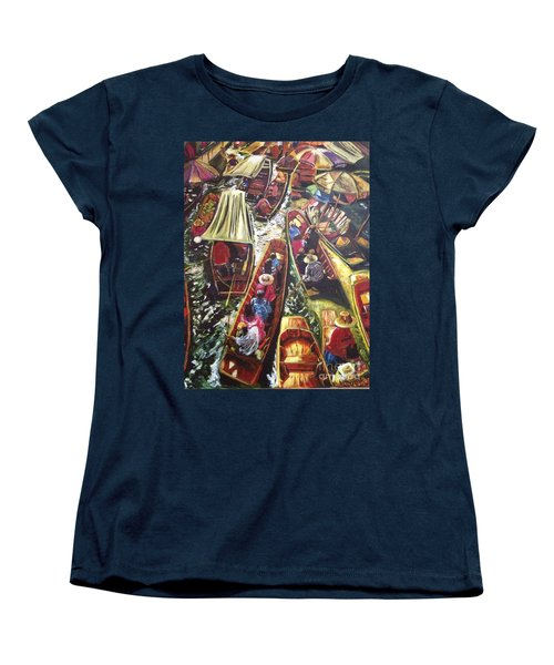 Women's T-Shirt (Standard Cut) featuring the painting In The Same Boat by Belinda Low