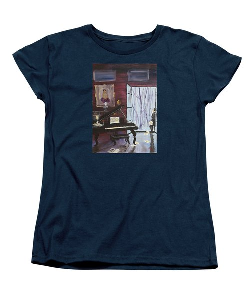 Women's T-Shirt (Standard Cut) featuring the painting In The Still Of The Night by Alan Lakin