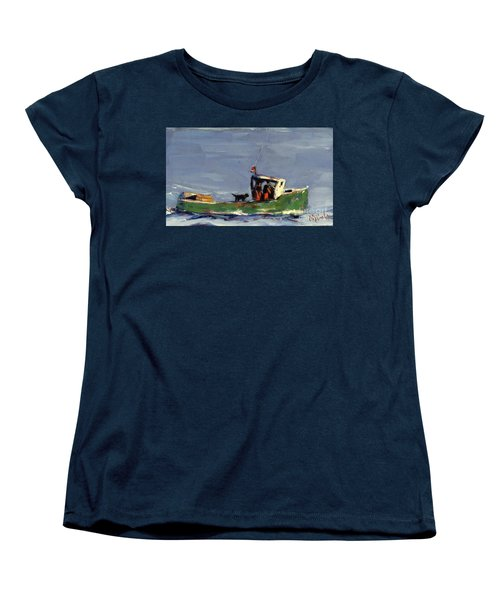 Women's T-Shirt (Standard Cut) featuring the painting In Tow by Molly Poole