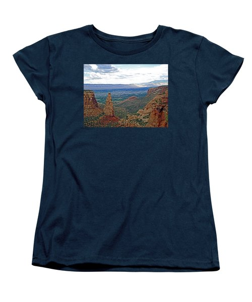 Independence Monument In Colorado National Monument Near Grand Junction-colorado Women's T-Shirt (Standard Cut) by Ruth Hager
