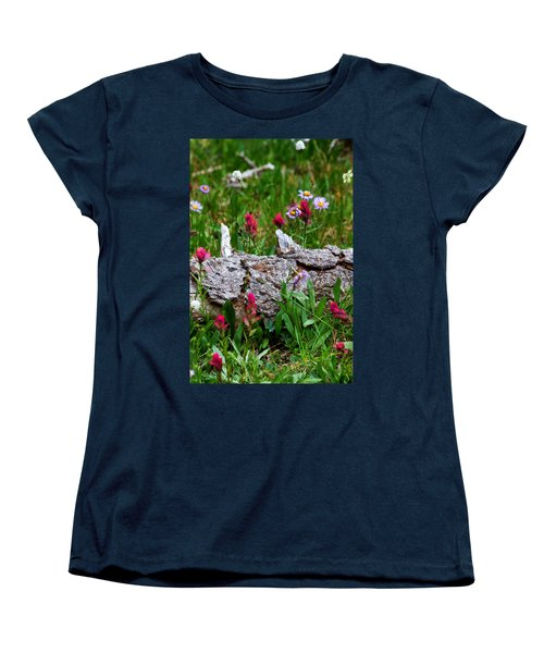 Women's T-Shirt (Standard Cut) featuring the photograph Indian Paintbrush by Ronda Kimbrow