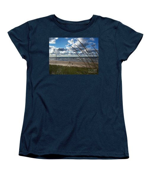 Indiana Dunes' Lake Michigan Women's T-Shirt (Standard Cut) by Pamela Clements