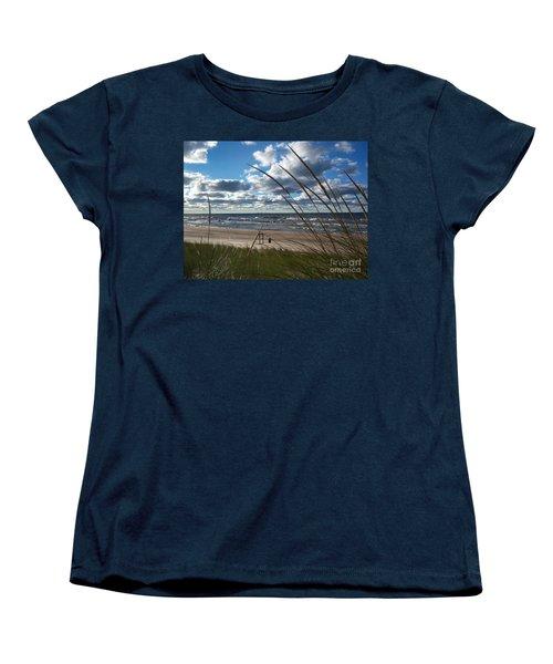 Indiana Dunes' Lake Michigan Women's T-Shirt (Standard Cut)