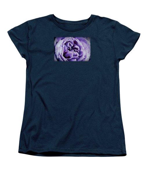 Lavender Motive Women's T-Shirt (Standard Cut) by Jean OKeeffe Macro Abundance Art