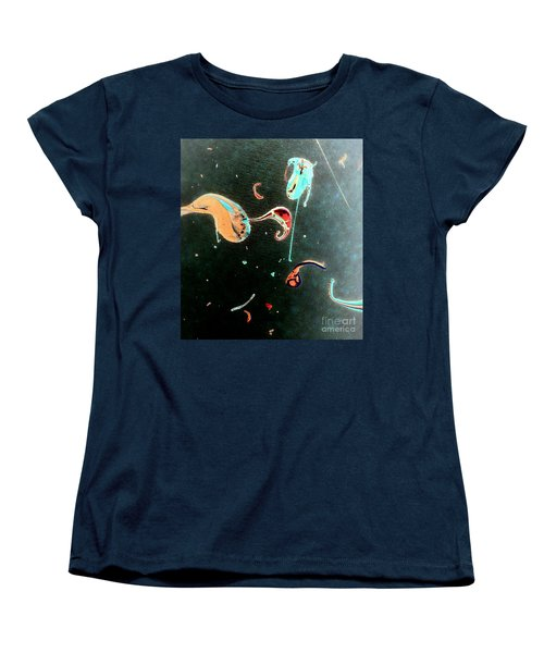 Women's T-Shirt (Standard Cut) featuring the painting Inner Space by Jacqueline McReynolds