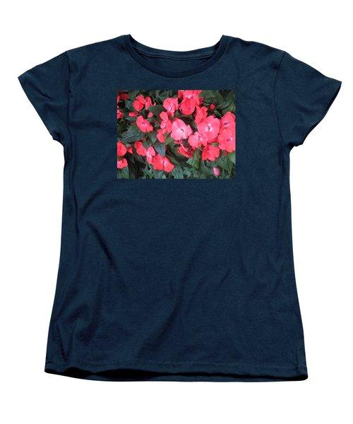 Women's T-Shirt (Standard Cut) featuring the photograph Interior Decorations Butterfly Garden Flowers Romantic At Las Vegas by Navin Joshi