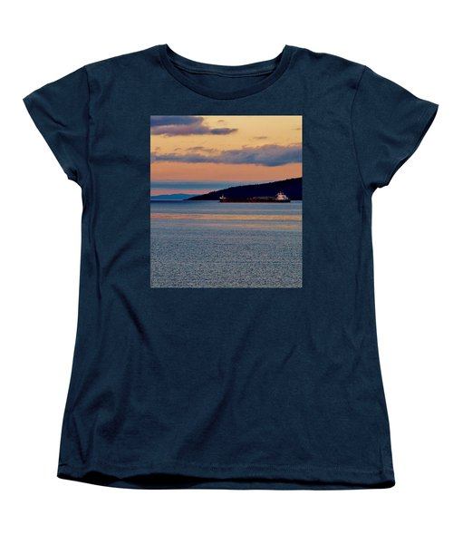 Into The Gitchigumi Night Women's T-Shirt (Standard Cut) by Daniel Thompson