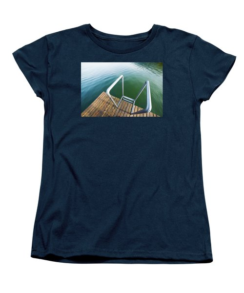 Women's T-Shirt (Standard Cut) featuring the photograph Into The Water by Chevy Fleet