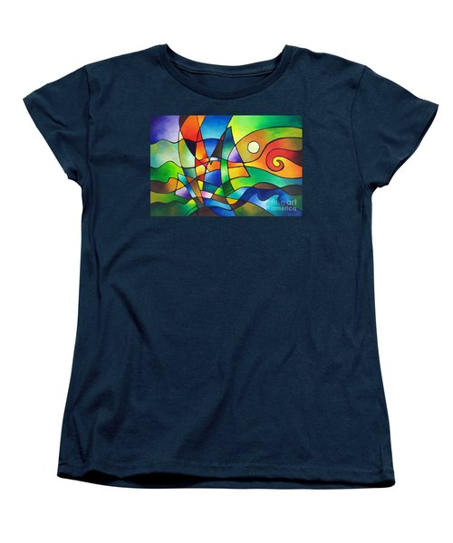 Into The Wind Women's T-Shirt (Standard Cut) by Sally Trace