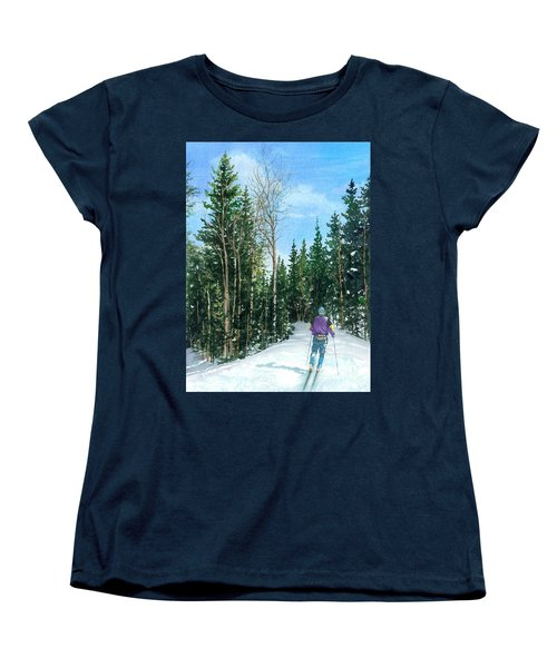 Into The Woods Women's T-Shirt (Standard Cut) by Barbara Jewell